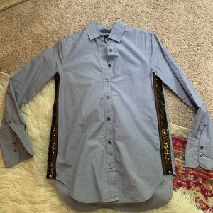 Jcrew button down blue sequins 0 new work shirt